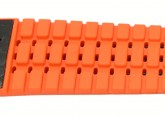 Hirsch 'Ayrton' Performance 20mm Black and Orange Strap