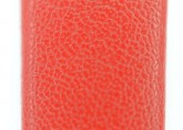 Hirsch 'Diamond calf'' Red Leather Strap,L, 18mm