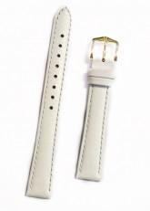 Hirsch 'Kansas' White Calf Leather Strap, 12mm