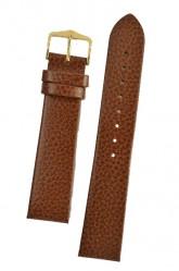 Hirsch 'Dakota' Golden Brown, leather watch strap,L, 22mm