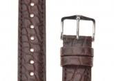 Hirsch 'Regent' Brown Leather Strap, 18mm