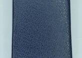Hirsch 'Diamond calf'' Blue Leather Strap,L, 18mm