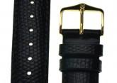 Hirsch 'Rainbow' Black Leather Strap, 14mm