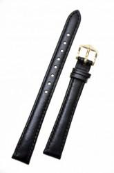 Hirsch 'Osiris' Black Leather Strap, 12mm