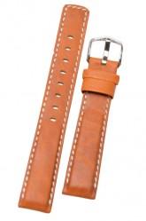 Hirsch 'Mariner' 22mm tan Leather Strap