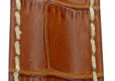 Hirsch 'Modena' Honey Leather Strap, 20mm