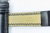 Hirsch 'Ascot' 12mm Black Leather Strap