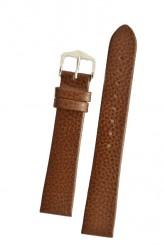 Hirsch 'Dakota' Brown, leather watch strap,L, 20mm