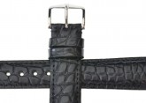 Hirsch 'Regent' Black Leather Strap, 18mm