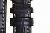 Hirsch 'Knight' 26mm Black Leather Strap