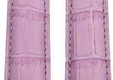 Hirsch 'Princess' Lilac Leather Strap, 20mm
