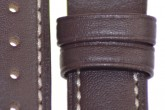 Hirsch 'Heavy Calf' 26mm Brown Leather Strap