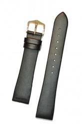 Hirsch 'Diamond calf'' Black Leather Strap,L, 20mm