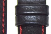 Hirsch 'Jumper' XL Black Leather Strap, 18mm