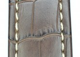 Hirsch 'Knight' 26mm Brown Leather Strap
