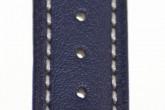 Hirsch 'Heavy Calf' 22mm Blue Leather Strap