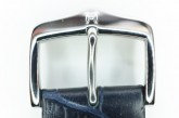 Hirsch 'Modena' Blue Leather Strap, 22mm