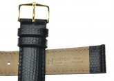 Hirsch 'Rainbow' M Black Openended Leather Strap, 17mm