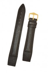 Hirsch 'Rainbow' M Black Openended Leather Strap, 18mm