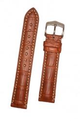 Hirsch 'Viscount' Golden Brown Leather Strap, 24mm