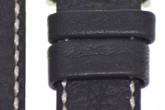 Hirsch 'Mariner' 18mm Black Leather Strap