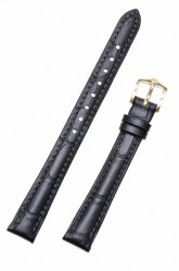 Hirsch 'Duke' Black Leather Strap, 14mm
