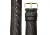 Hirsch 'Rainbow' L Brown Leather Strap, 17mm