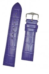Hirsch 'LouisianaLook' M Violet Leather Strap, 18mm