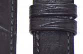 Hirsch 'Duke' Black Long Leather Strap, 18mm