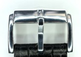Hirsch 'Princess' Black Leather Strap, 22mm