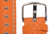 Hirsch 'Carbon' High Tech 20mm Orange Leather Strap