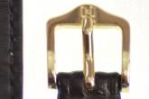 Hirsch 'Osiris' Black Leather Strap, 15mm