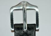 Hirsch 'Dakota' 16mm Black Leather Strap, M