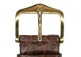 Hirsch 'Regent' M Brown Leather Strap, 18mm