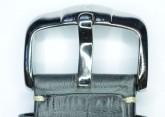 Hirsch 'Knight' 20mm Grey Leather Strap