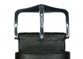 Hirsch 'Scandic' Black, leather watch strap 28mm