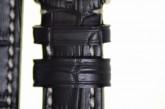 Hirsch 'Knight' 22mm Black Leather Strap