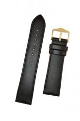 Hirsch 'Umbria ' M Black Leather Strap, 20mm
