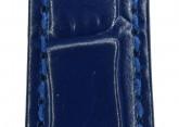Hirsch 'LouisianaLook' Blue Leather Strap, 20mm