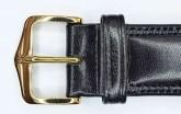 Hirsch 'Ascot' 18mm Black Leather Strap