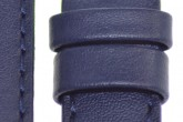 Hirsch 'Runner' 20mm Blue Leather Strap