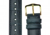 Hirsch 'London' Navy Blue Leather Strap, 18mm