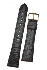 Hirsch 'Genuine Croco' M 18mm Brown Leather Strap