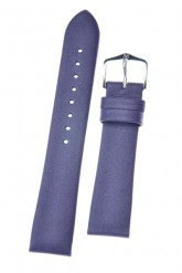 Hirsch 'Cashmere-aloe vera' Purple Leather Strap, 18mm