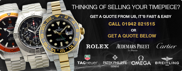 Sell your Rolex, Omega, Breitling Watch